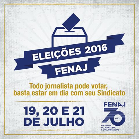Eleições da FENAJ: saiba onde votar