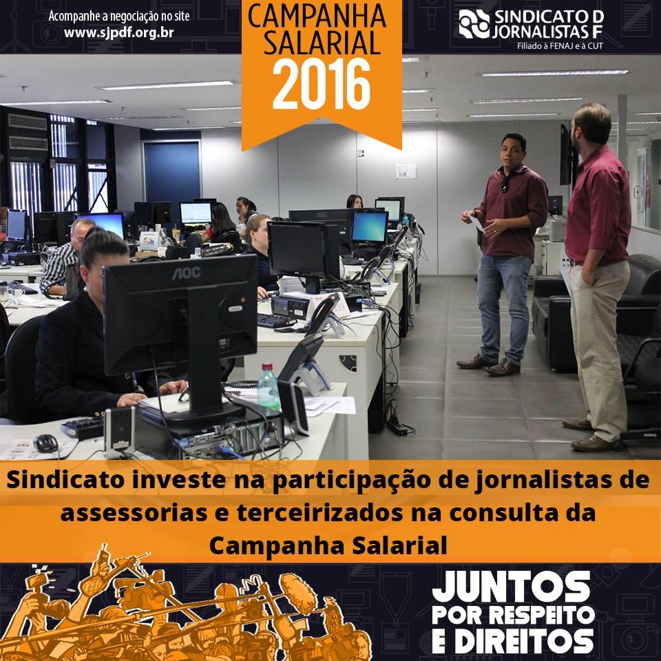 Sindicato investe na participação de Jornalistas de assessorias e terceirizados na consulta da Campanha Salarial