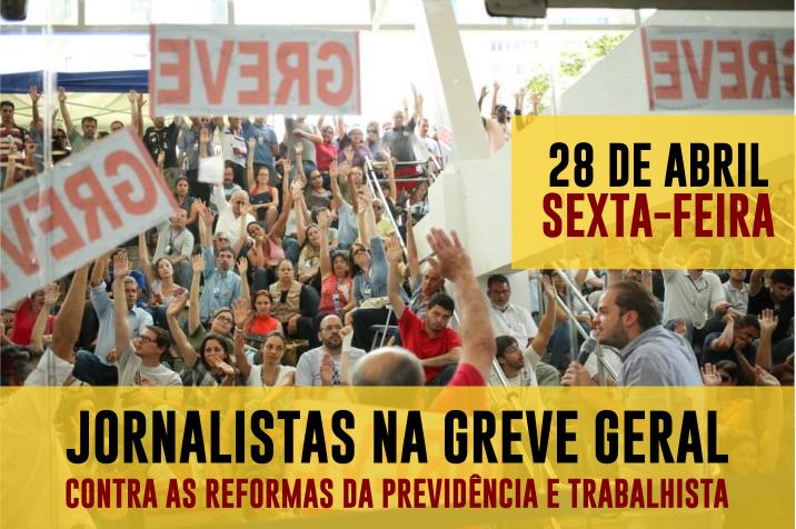 Assembleia aprova adesão dos jornalistas à Greve Geral do dia 28 de abril