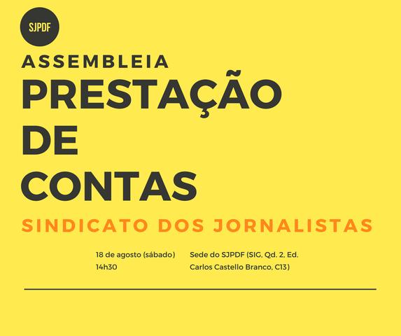 Diretorias do Sindicato e do Clube prestam contas de 2017 em assembleia neste sábado (18)