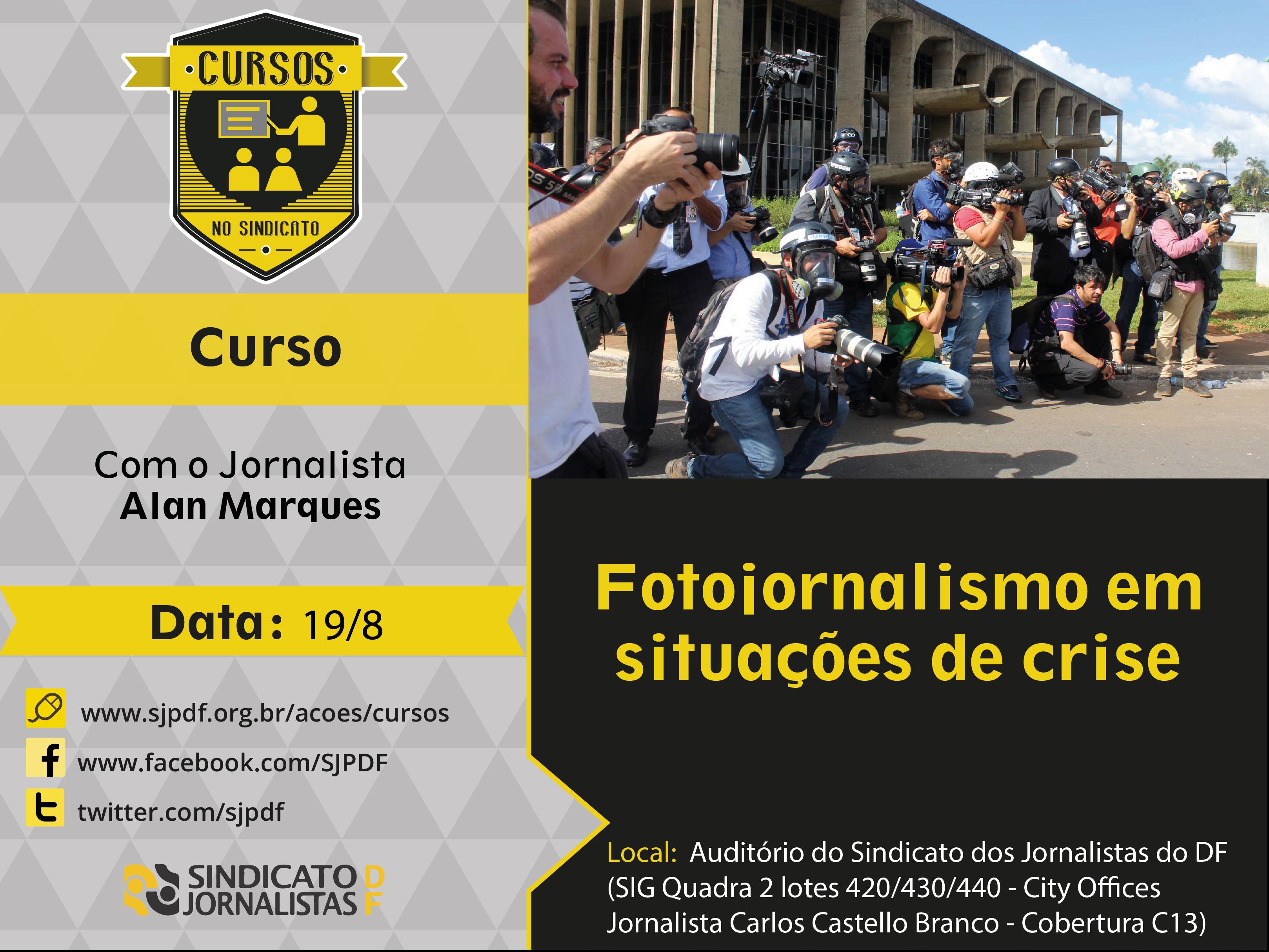 """Abertas as inscrições para o curso """"Fotojornalismo em situações de crise"""" com Alan Marques"""
