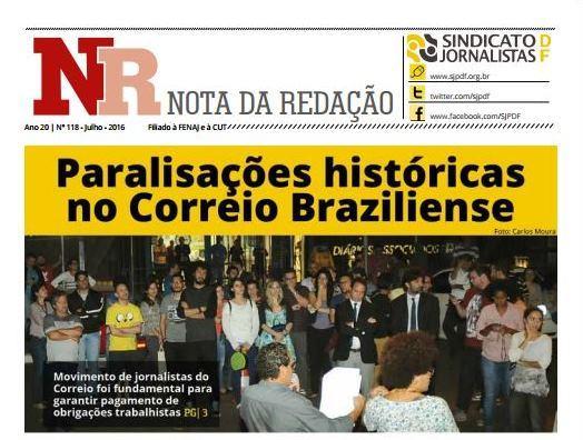 Sindicato lança NR de julho. Confira!