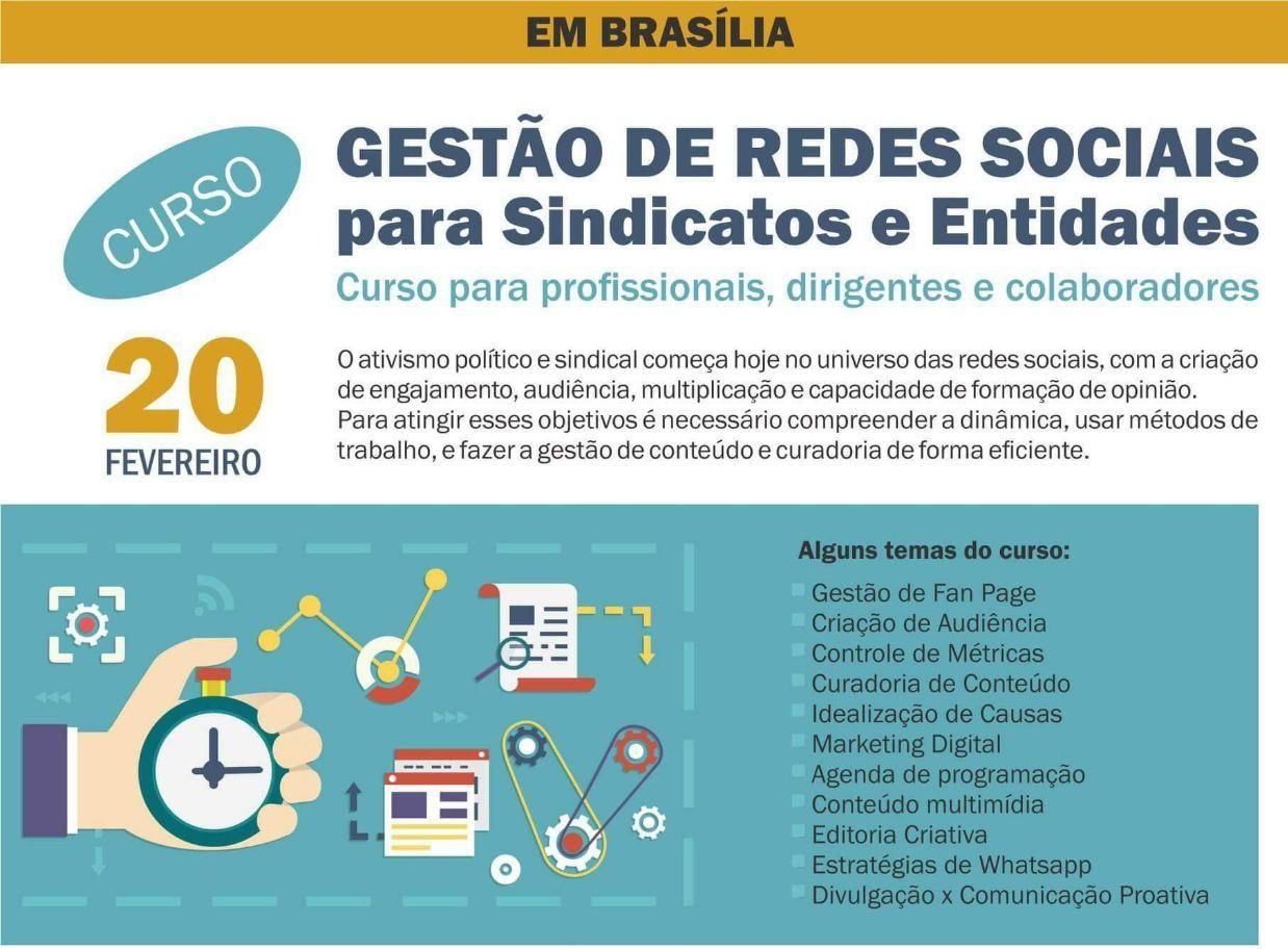 Jornalistas sindicalizados terão desconto de 25% em curso sobre gestão de redes sociais