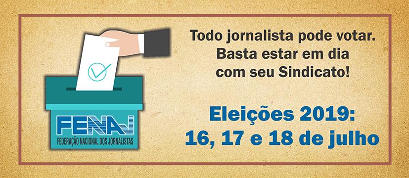 Chapa única concorre às eleições da Fenaj que acontecem entre 16 e 18 de julho