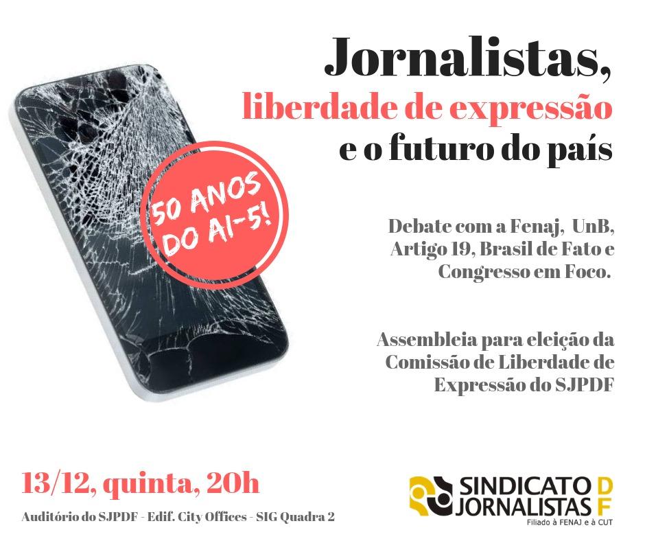Sindicato promove debate sobre a liberdade de expressão e elege comissão sobre o tema