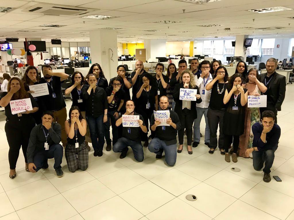 Trabalhadores e entidades se manifestam contra perseguição de jornalista pela direção da EBC