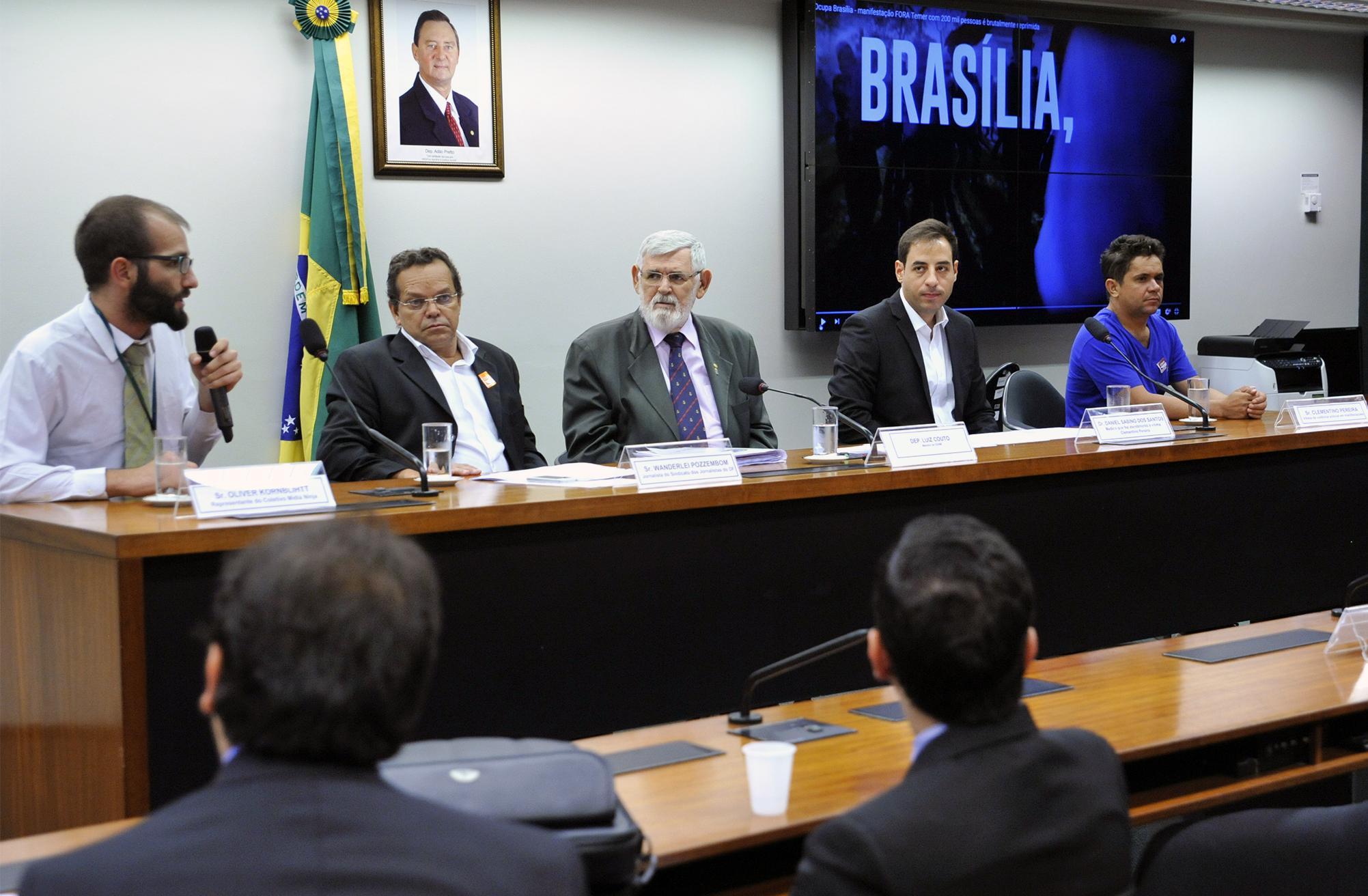 Sindicato cobra responsabilidade do GDF com a segurança dos jornalistas em audiência na Câmara dos Deputados