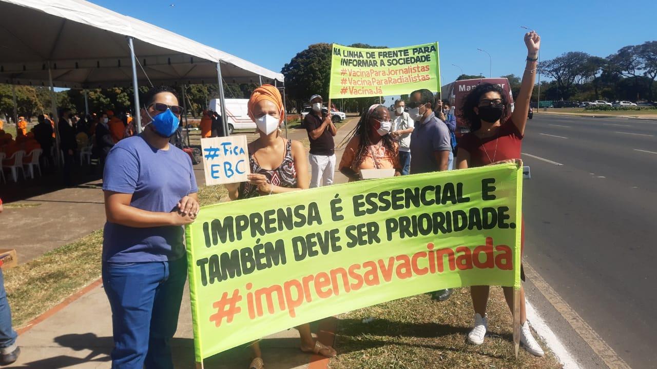 Governo do DF recebe Sindicatos de Jornalistas e Radialistas para tratar da vacinação da imprensa