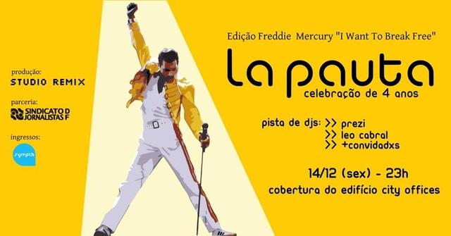 Mais uma edição da festa La Pauta nesta sexta