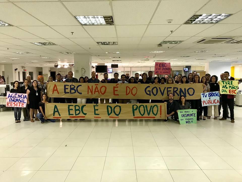 Sindicatos e entidades da sociedade civil entram com ação contra privatização da EBC